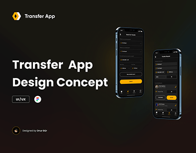 Transfer App Design Concept - UI/UX
