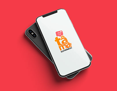 Visual Identity Tâma Eletronics - A mobile store