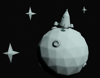 """""""In my moon"""" - low poly"""