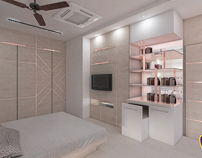 Daughters bedroom designed & visualized by Regalway