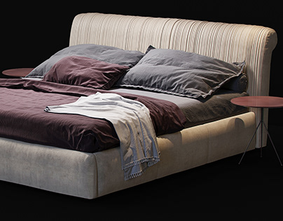 BAXTER Alfred special edition bed 3d model