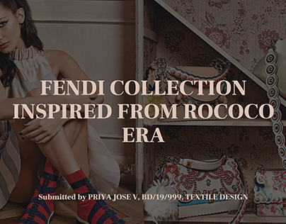 Fendi collection inspired from the Rococo era.