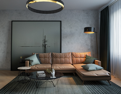 """Late fall"" Design of the apartment at Teremki"