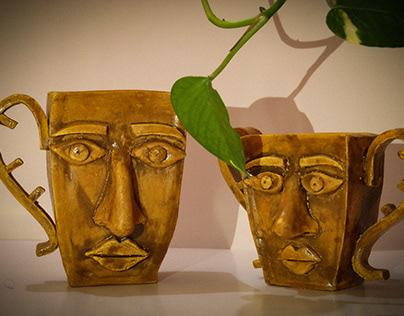 Ceramic indoor planters