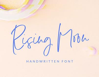 Rising Moon Handwritten Font