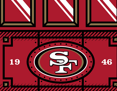 San Francisco 49ers Trolley Graphic