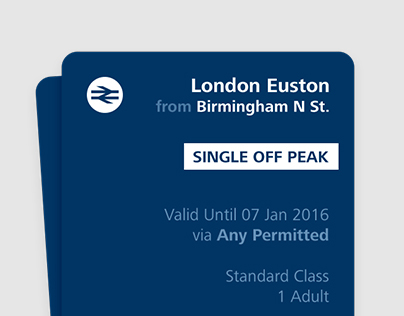 National Rail (UK) Tickets Redesign