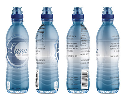 Bottle Label Design for Luna Water