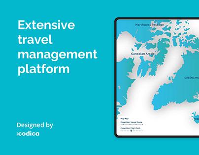 Extensive travel management platform for IExpedition