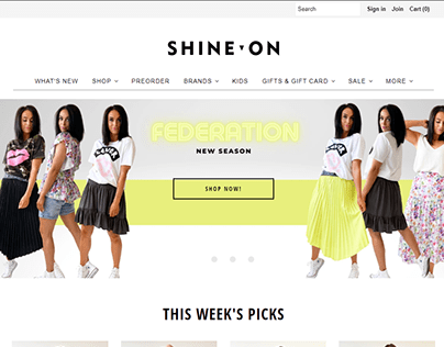 Shine On website Design