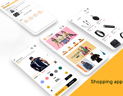 Shopping App - Web & Mobile UI Design