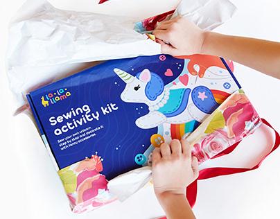 Sewing activity kits for La-La-Llama brand
