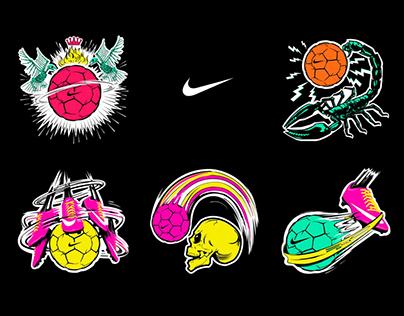 Nike Football Stickers