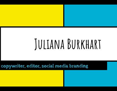Juliana Burkhart's Portfolio