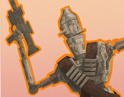 IG-11 Star Wars Poster