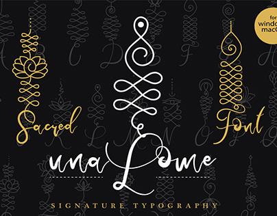 Unalome Sacred Font
