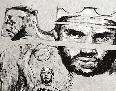 Lebron James 2014 illustrations