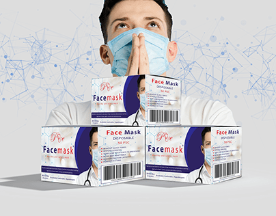 Face mask Box for a medical center