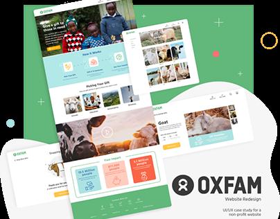 oxfam website redesign