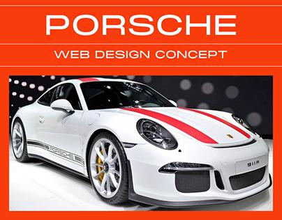 Corporate website concept Porsche