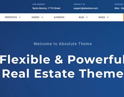Absolute - Real Estate Responsive Full Website