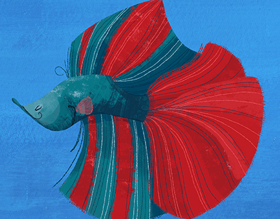 Betta Fish Speed Paint- Art of David Ben