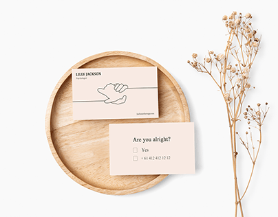 A business card design for a psychologist