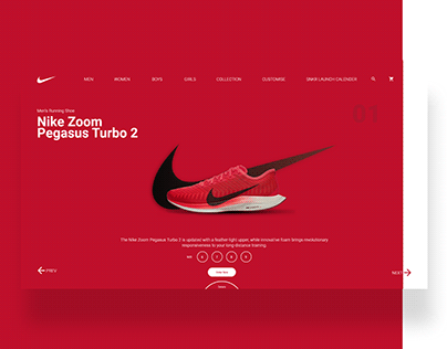 NIKE PRODUCT PAGE DESIGN UI