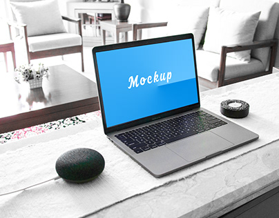 Clean Macbook Pro Mockup Free PSD Download
