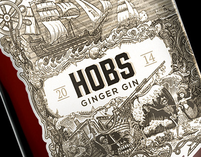 Illustrations for the Gin Label