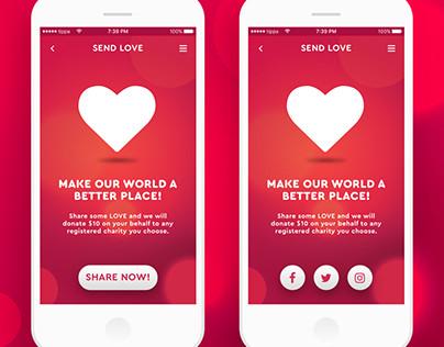 Share Love mobile app