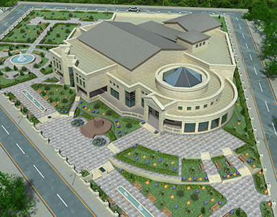 Education center in Zaqatala, Azerbaijan.