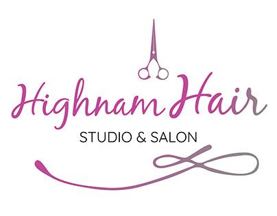 Logo Brand Design for a Hairdressors studio & salon