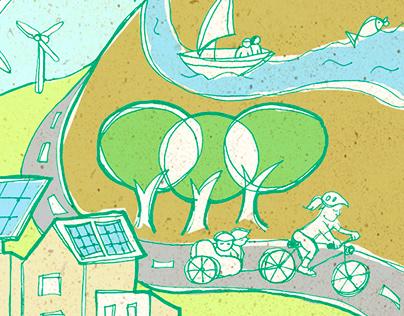 Portada para Revista sobre Ciudades Sostenibles