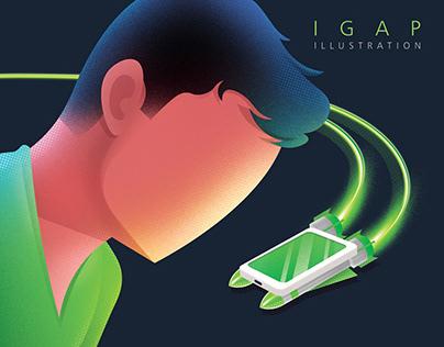 iGap illustration