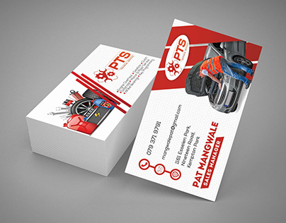 Mockup business cards for PTS