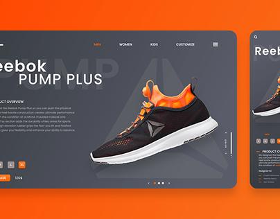 Reebok Website Landing Page UI Design