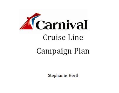 Carnival Cruise Line Campaign Plan