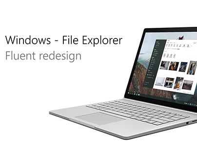 File Explorer - Fluent Design
