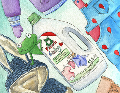 Illustrations for the Frosch company