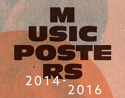 Music Posters 2014-2016