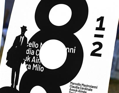8 e Mezzo | Federico Fellini Art Poster