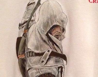 Camisetas y bolsas pintadas a mano