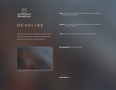 Blurry & Ornamental Webtemplate