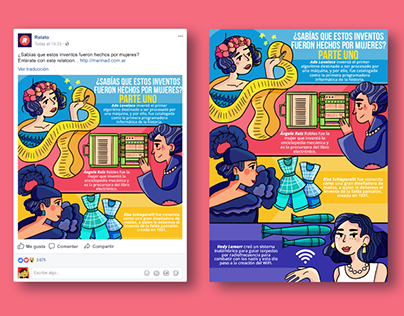 """Relatoons 2017"" Infografías ilustradas para Relato.gt"