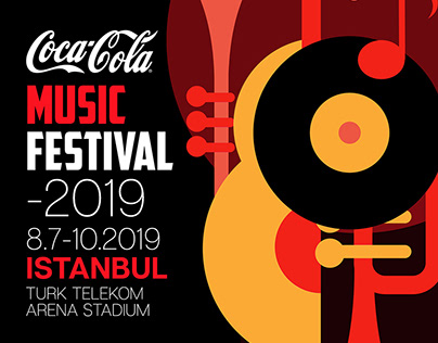 Coca Cola 2019 Music Festival Poster and Ticket Design