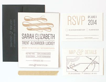 sarah + trent invitation suite