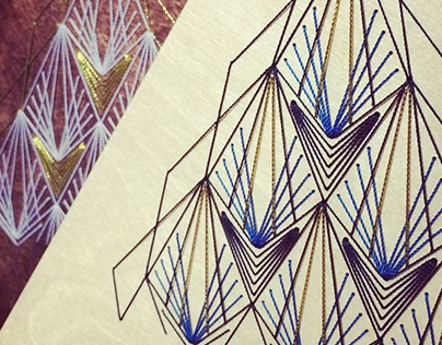 Wood Embroidery : Triangle