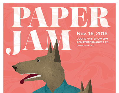 Paper Jam Gig Poster