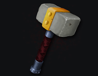 Hammer weapon icon for RPG game